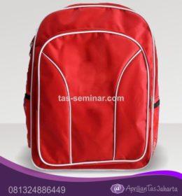 tas seminar Tas Ransel Seminar Merah List Putih