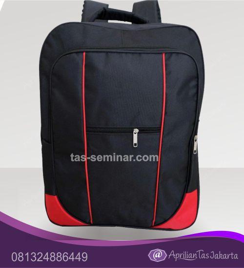 tas semionar Tas Ransel Seminar Pelatihan dengan Kantong kecil depan Dua Kantong Utama