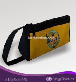 tas seminar, tas souvenir Tas Selempang Warna Hitam dan Kuning