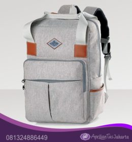 tas seminar, tas souvenir Tas Seminar Backpack Kombinasi Kulit Sintetis Bahan JW641