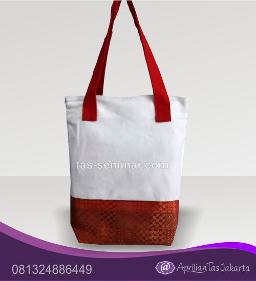 tas seminar, tas souvenir Tas Seminar Jinjing Kanvas Kombinasi Batik