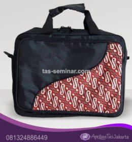 tas seminar, tas diklat, tas pelatihan Tas Seminar Laptop Hitam Kombinasi Batik