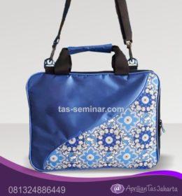 tas seminar, tas diklat, tas pelatihan Tas Seminar Laptop Kombinasi Batik Biru