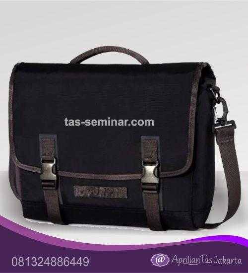 tas seminar, tas diklat, tas pelatihan Tas Seminar Laptop Selempang Hitam Dilengkapi Tali Selempang Webbing