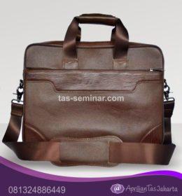 tas seminar, tas diklat, tas pelatihan Tas Seminar Selempang Laptop Kulit