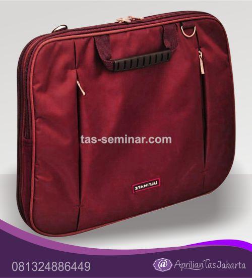 tas seminar, tas diklat, tas pelatihan Tas Seminar Selempang Laptop Merah Maroon