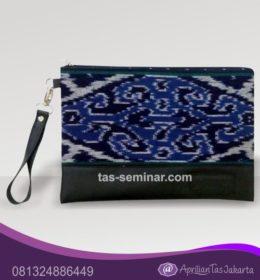 tas seminar, tas souvenir pouch bag kombinasi batik