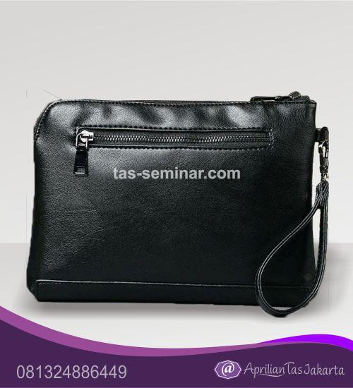 tas seminar, tas souvenir pouch bag kulit hitam
