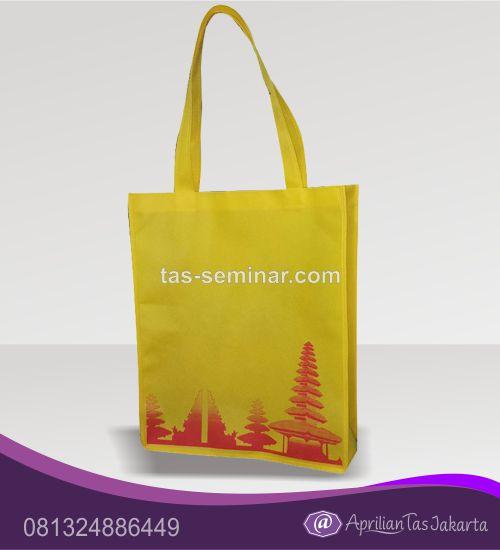 tas seminar, tas souvenir, tas pelatihan tas jinjing spounbond kuning
