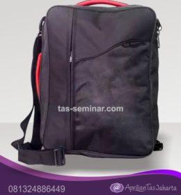 tas seminar, tas pelatihan miro hitam dan merah
