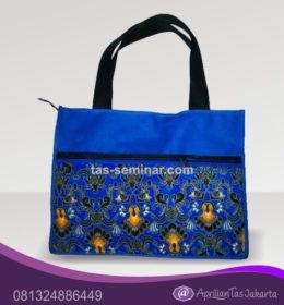tas seminar tas jinjig batik d600 biru batik biru orange
