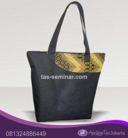 Tas Souvenir, tas seminar jinjing d300 hitam komb batik kuning