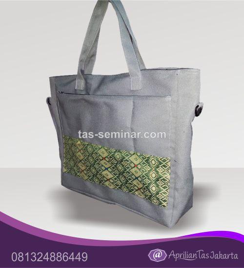 Tas Souvenir, tas seminaar jinjing d600 putih komb batik putih