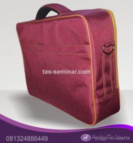 tas souvenir, tas seminar laptop d300 merah marun dan orange