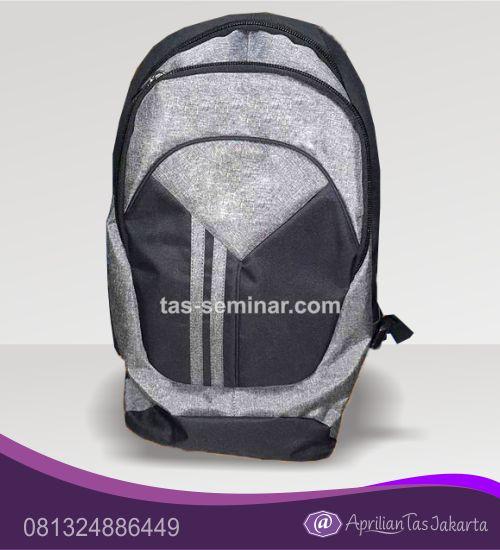 tas souvenir, tas seminar ransel silver dan hitam