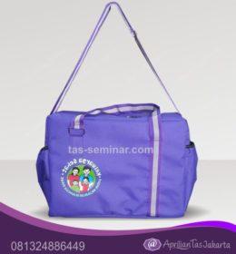 tas seminar, tas diklat, tas pelatihan tas seminar slempang warna ungu keluarga