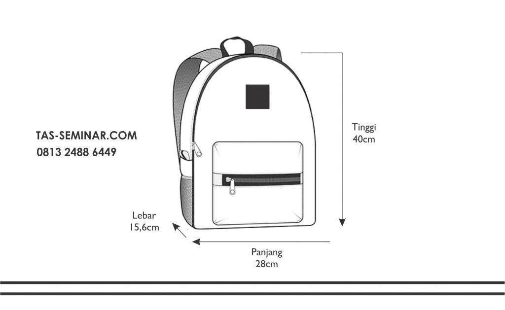 ilustrasi untuk tas seminar ransel TSR100