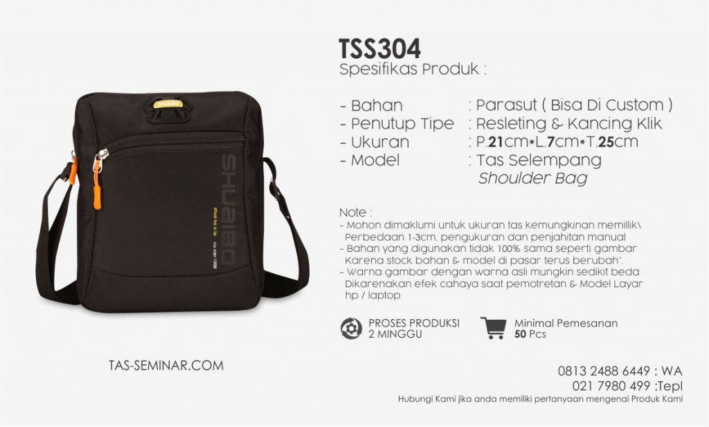 Spesifikasi Tas Seminar TSS304 | Konveksi Tas Seminar Jakarta