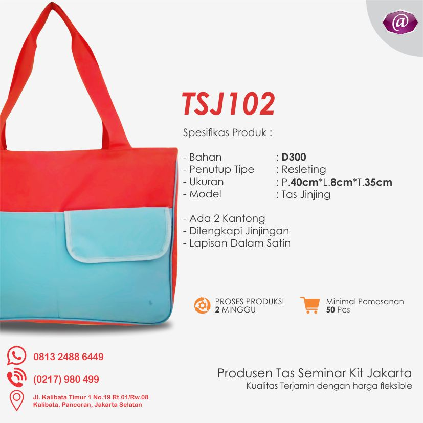 spesifikasi tas seminar jinjing TSJ102 grosir tas seminar jakarta
